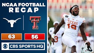 #8 Texas vs Texas Tech Recap: Longhorns rally to beat the Red Raiders 63-56 in OT | CBS Sports HQ