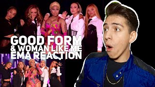 Nicki Minaj & Little Mix- Good Form/ Woman Like Me|E2 reacts