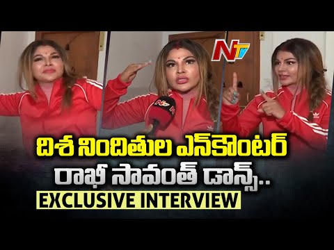 Actress Rakhi Sawant celebrates by dancing over Disha accused encounter
