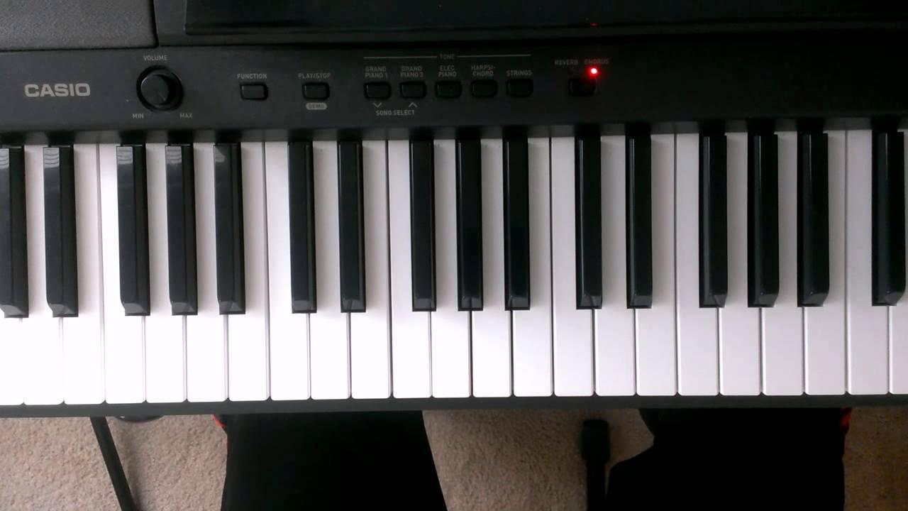 """C"" Sharp Minor Scale On Piano"