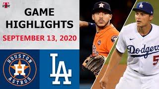 Houston Astros vs. Los Angeles Dodgers Highlights | September 13, 2020 (Greinke vs. Graterol)