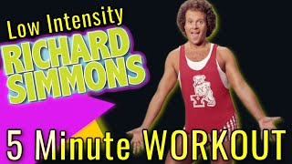"5 MINUTE Low Intensity Toning Workout with Richard Simmons feat. ""I Love The Animals"""