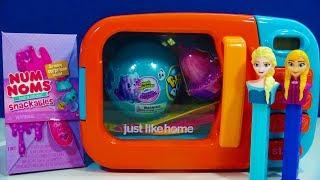 Just Like Home Microwave Toys Num Noms Snackables Scented Slime Pikmi Pops Surprise Bubble Drops