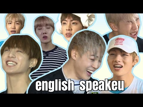 BTS - ENGLISH SPEAKING (Try Not To Laugh/Smile Challenge)