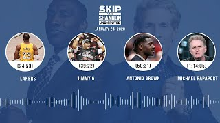 Lakers, Jimmy G, Antonio Brown, Michael Rapaport (1.24.20) | UNDISPUTED Audio Podcast
