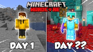 How long can I survive in a deserted hardcore world? (Day 1-50)
