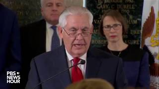 WATCH: Tillerson delivers farewell remarks at State Dept.