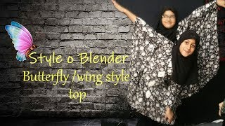 butterfly or wing style kaftan dress top (how to design on printed fabric)