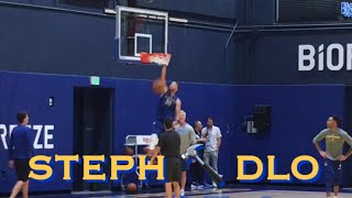 [HD] STEPH CURRY cheers on D'ANGELO RUSSELL then dunks better than DLo + kickball (video corrected)