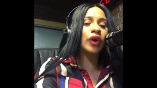 "Cardi B Spits the Spanish Version of ""Bodak Yellow"" on Radio Mega 97.9 FM"