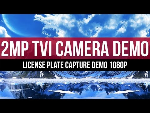 2MP HD-TVI Video Demo Car License Plate 1920 x 1080 /1080P