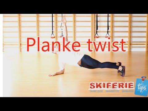 Skitræning - Øvelser til skiferie # 7 af 7 - Planke twist - Skiferietips.dk