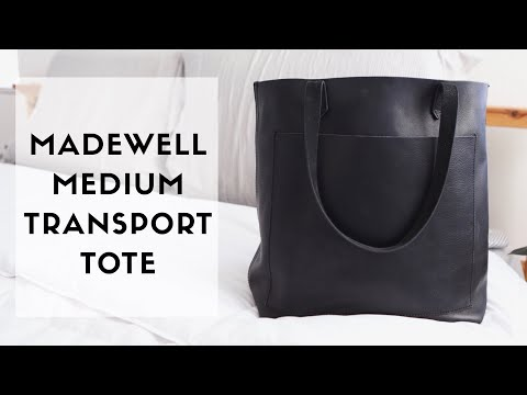 MADEWELL TRANSPORT TOTE (medium) // whats in my bag