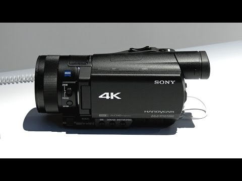 Sony AX100 4K Camcorder Hands-On! (CES 2014)