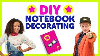 Back To School DIY Notebook Decorating with The KIDZ BOP Kids - YouTube