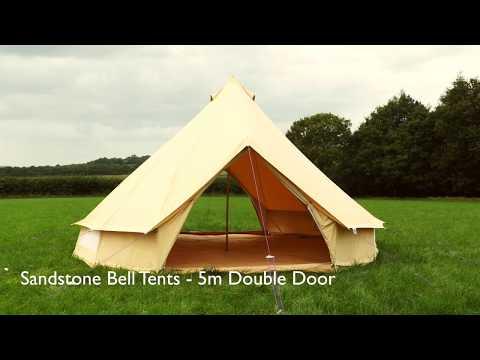 Boutique Camping 5m Sandstein Rundzelt mit Reißverschluss-Bodenplane