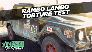 "The first US torture test of the LM002 ""Rambo Lambo"""