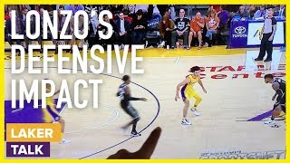 Quick & Dirty Breakdown of Lonzo Ball Defensive Impact on the Floor - Lakers #LakerTalk