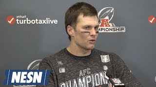 Tom Brady Patriots vs. Chiefs AFC Championship Postgame Press Conference