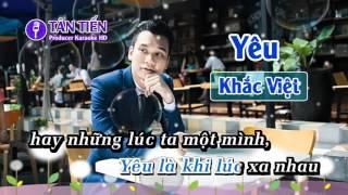 Karaoke  Yêu   Khắc Việt