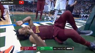 Derrick Rose suffers ankle injury vs Bucks 10/20/17