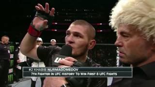 UFC 205: Khabib Nurmagomedov Octagon interview