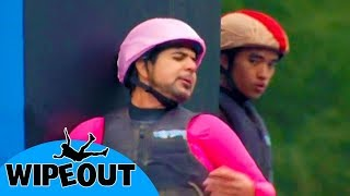Is it too late to quit? 🤣| Total Wipeout 🇺🇸| Clip