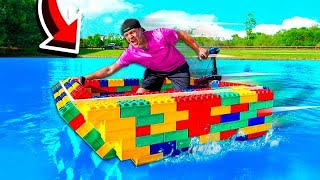 I BUILT A *REAL* WORKING LEGO BOAT!