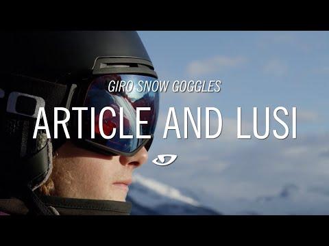 95861c8a4a4 ... Giro Ski Helmets Giro Article Mens Goggle in Wordmark with Vivid  Infrared Lens ...