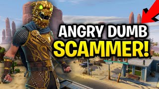 Angry Lying Dumb Scammer Scams Himself! (for 130s) (Scammer Get Scammed) Fortnite Save The World