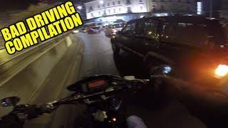 Bad Driving Compilation #1 - Motovlog