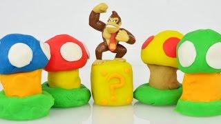 Super Mario Bros Egg Surprise Toys Play Doh Surprise Eggs
