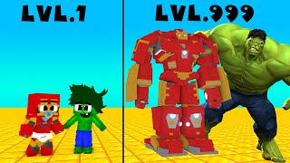 Monster School : Crook vs Boss Lvl 1 Lvl 999 Hulk vs Ironman