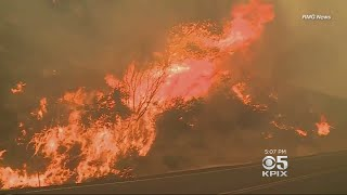 Huge Fires In Santa Barbara And Butte Counties Forcing Some Evacuations
