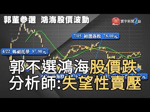 郭不選 鴻海股價跌 分析師 : 失望性賣壓|寰宇新聞20190917