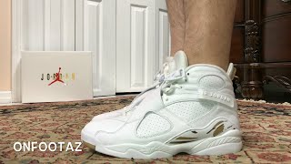 Air Jordan 8 VIII OVO White On Foot