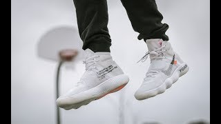 d0dfda6c2dac POSSIBLY THE BEST BASKETBALL SHOE 2017 ( OFF WHITE HYPERDUNK ON FEET REVIEW)