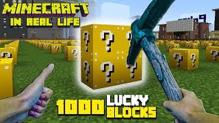 Realistic Minecraft - 1000 Lucky Block Challenge! - Lucky Block Mod