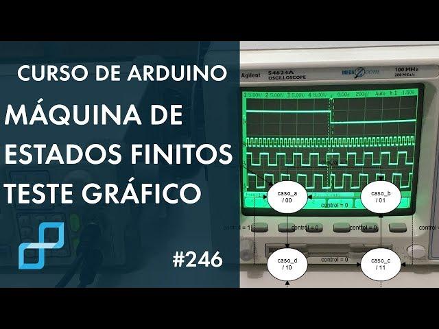 TESTE DE MÁQUINA DE ESTADOS FINITOS | Curso de Arduino #246