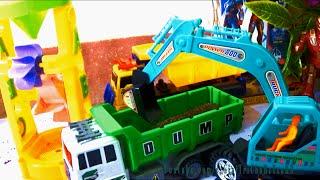 Car toy play set Xe ô tô máy xúc đồ chơi cát 자동차 장난감 車のおもちゃ игрушка автомобиля Giai tri cho Be yeu