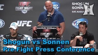UFC Fight Night: Shogun vs Sonnen Pre-Fight Press Conference (HD / complete + unedited)