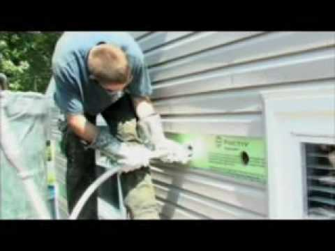 Wall Foam Insulation For Existing Homes Youtube