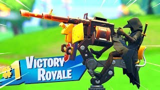Fortnite's NEW Mounted Turret is OP..