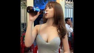 Gái xinh uống rượu lấy tiền ... lộ hàng và cái kết