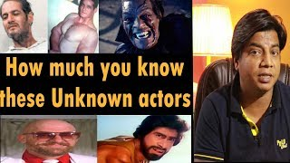 Unrecognized actors in Bollywood