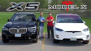 2019 BMW X5 50i vs Tesla Model X // Battle Of The X's