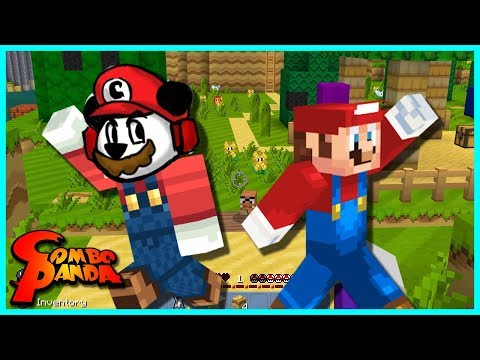 Mario Minecraft Let's Play with Combo Panda