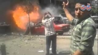 المشاهد الأولى لحادث اغتيال النائب العام quotهشام بركات quot     -
