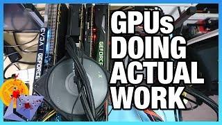 GPUs Doing Actual Work: Quad-GPU Render Machine