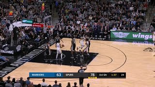 3rd Quarter, One Box Video: San Antonio Spurs vs. Golden State Warriors